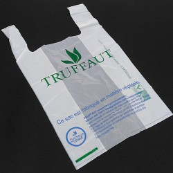 BAGHERRA - 100 x Shopper Biodegradabile Compostabile EN 13432 - 47x27CM