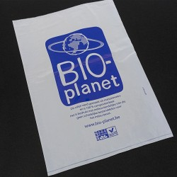 BAGHERRA - 1265 x Shopper senza Manico Biodegradabile Compostabile EN 13432 - 44x30CM