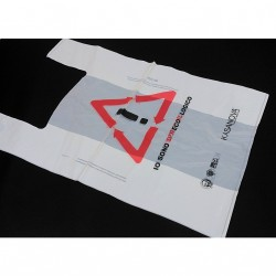 BAGHERRA - 48x Shopper Biodegradabile Compostabile EN 13432 - 72x54CM