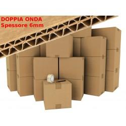 10 x Box/Cartone AVANA 6mm Doppia Onda 58x59x30 - Imballaggio e Spedizione