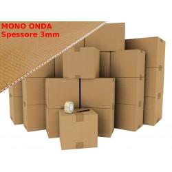 15 x Box/Cartone AVANA 3mm Mono Onda 36x26x26 - Imballaggio e Spedizione