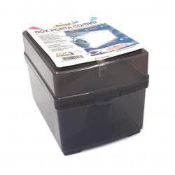 TECNOSTYL - Box Porta CD/DVD con Tasche Rubricabili - Grigio