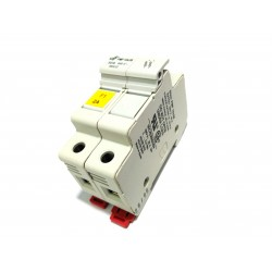 DF ELECTRIC 480232 - Portafusibile 2Poli PMF 10x38mm 32A 690V - Bianco