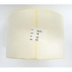 ETCO Etichetta Adesiva Carta Bianca in Rotolo da 1000Pz 100x97.6mm