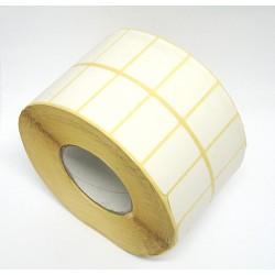 ETCO Etichetta Adesiva Carta Bianca Doppia Fila in Rotolo da 4000Pz 50x30mm
