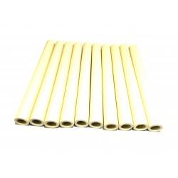 10pz x Tubi di Ceramica Resistenti a Temperatura Elevata L.150mm Ø.Int 10mm