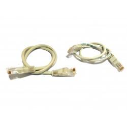 2x Cavi di Rete UTP Patch Cord Cat5 0.5M - Grigio