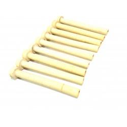 9x Tubi di Ceramica Resistenti a Temperatura Elevata L.150mm Ø.Int 9mm