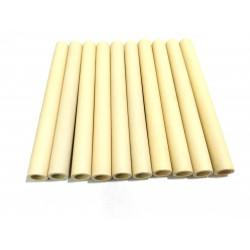 10x Tubi di Ceramica Resistenti a Temperatura Elevata L.150mm Ø.Int 10mm