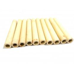 10x Tubi di Ceramica Resistenti a Temperatura Elevata L.100mm Ø.Int 8mm
