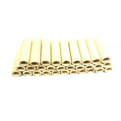 30x Tubi di Ceramica Resistenti a Temperatura Elevata L.45mm Ø.Int 10mm