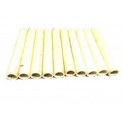 10x Tubi di Ceramica Resistenti a Temperatura Elevata L.100mm Ø.Int 11mm