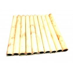 10pz x Tubi di Ceramica Resistenti a Temperatura Elevata L.100mm Ø.Int 11mm