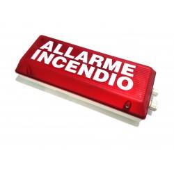 Indicatore Ottico Acustico Emergenza Anti Incendio 12V
