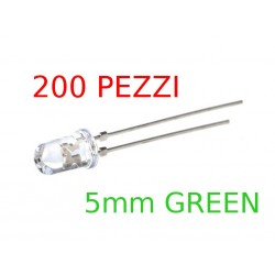 TOYODA GOSEI E1L53-3G - 200 x 5mm Round Green LED THT