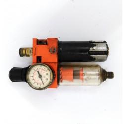 Gruppo FRL 1/2 con Riduttore Regolatore Filtro Lubrificatore per aria compressa