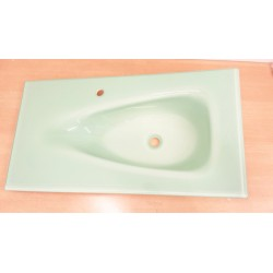 COMPAB LAVABO LOLLIPOP-lavabo in vetro curvo artigianale