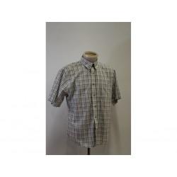 Dickies Camicia con bottoni da Uomo - Taglia L - a Quadri Bianca / Marrone / Azzurra