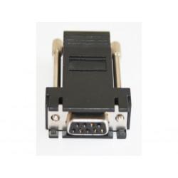 OEM - Adattatore Modulare/Convertitore da DB9 Femmina a RJ45 Femmina - Nero