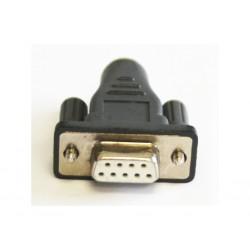 OEM - Adattatore per Connettore Seriale DB9 Femmina a PS2 Mini DIN 6 - PIN Femmina - Grigio