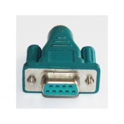 OEM - Adattatore Verde per Connettore Seriale DB9 Femmina a PS2 Mini DIN 6 - PIN Femmina