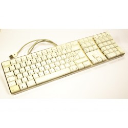 APPLE Keyboard KY4060EMSQPBA - Tastiera USB - 2 Entrate USB - Bianca - Layout Tedesco