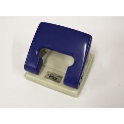 LEBEZ COD-10 Perforatore per Fogli - Ferro - Blu - Vaschetta in Plastica
