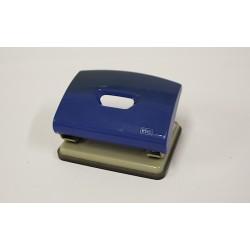 LEBEZ Perforatore per Fogli - Ferro - Blu - Vaschetta in Plastica