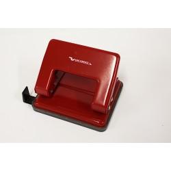 VIKING Perforatore per Fogli - Ferro - Rosso - Vaschetta in Plastica