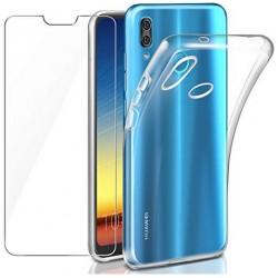 """LEATHLUX Cover + Pellicola Protettiva per Huawei P20 Lite/Huawei P11 Lite 5.84"""""""