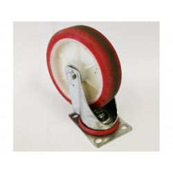 OEM - Ruota Snodabile in Plastica Dura per Carrello - Diametro 20 cm