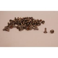 100 Per Borchie Rivetti decoupage color acciaio per borse Scarpe in pelle e varie