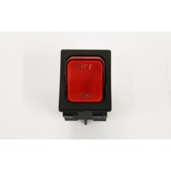Interruttore rosso bipolare 125/250Vac 16A / 380Vac 10A
