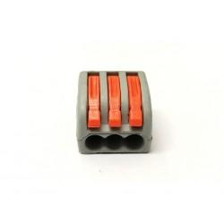 Kit 9 x Connettore cavi 3 Pin sgancio rapido per cavi fino a 4mmq
