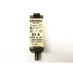 Fusibile Siemens 3NA5 822 63A 500V/120kA