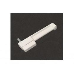 Maniglia Rettangolare in plastica - Lunghezza Cm. 17 - Bianca
