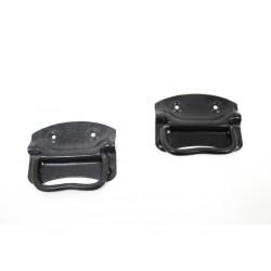 Coppia Maniglia 1 nera e 1 grigia cassa baule panca antiquariato in ferro