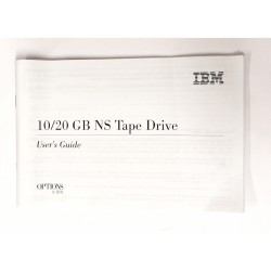 Guida all'installazione 10/20 GB NS Tape Drive - OPTIONS by IBM