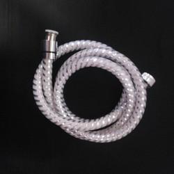 Tubo Flessibile Doccia Rivestito Bianco Luxury 150cm
