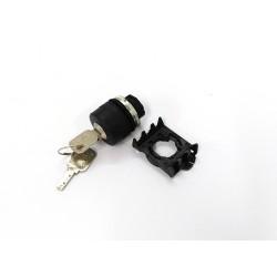 SCAME PSCN8D0C - Selettore a Chiave IP65 2 Posizioni - Nero