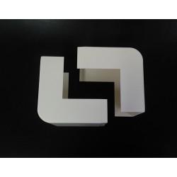 Arnocanali KA40100.6 - 2 x Angolo Esterno per Canala 100x40mm - Bianco