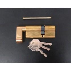Yale 2160075 - Serratura a Cilindro con Pomolo e Chiavi - Ottone - 74mm