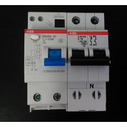 ABB DDA202-C16 - Interruttore Magnetoermico C16 + Blocco Differenziale 25A 30mA AC