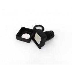 SCHLEGEL QXJT-88843 - Pulsante Testa Quadrata ILLUM 27X27mm Nero