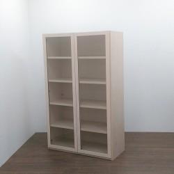 Libreria a 2 Ante a Vetro a 5 Ripiani - Colore Betulla