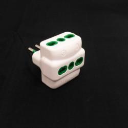 Adattatore Multiplo 250V Max 1500W - Bianco