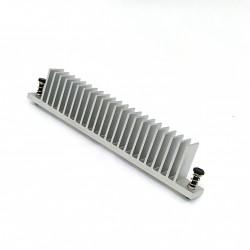 Dissipatore Termico in Alluminio 130x12mm H 25,3mm