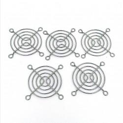 5 x Griglia di Protezione per Ventola 53x53mm in Metallo Cromato Fan Grid