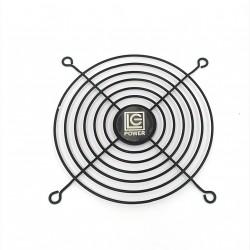 Griglia di Protezione per Ventola 115x115mm in Metallo -Nero
