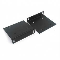 2 x Staffa/Supporto Rack Mount 2U - Nero